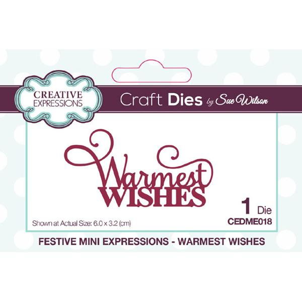 Sue Wilson Dies - Festive Collection Warmest Wishes - CEDME018