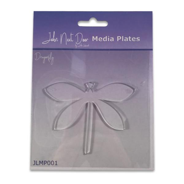 John Next Door Media Plate - Dragonfly