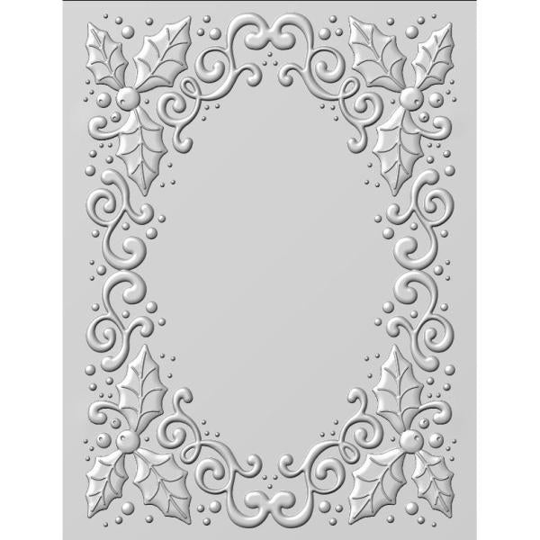 "Creative Expressions Emboss Folder 3D Holly Swirls (5 3/4"" x 7 1/2"")"