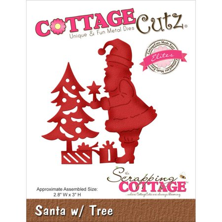 Cottage Cutz Elites Die - Santa w/ Tree - CCE-350