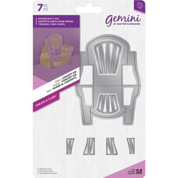 Crafters Companion - Gemini Die - Create-a-Card - Chair - Concept Die