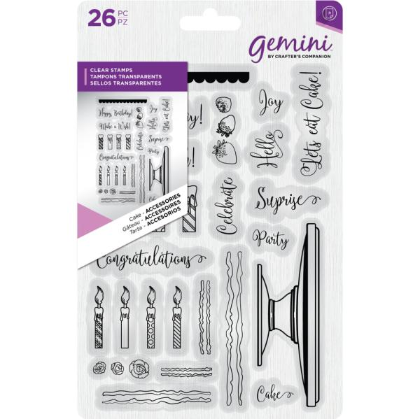 Crafters Companion - Gemini Clear Stamp - Cake Accessories