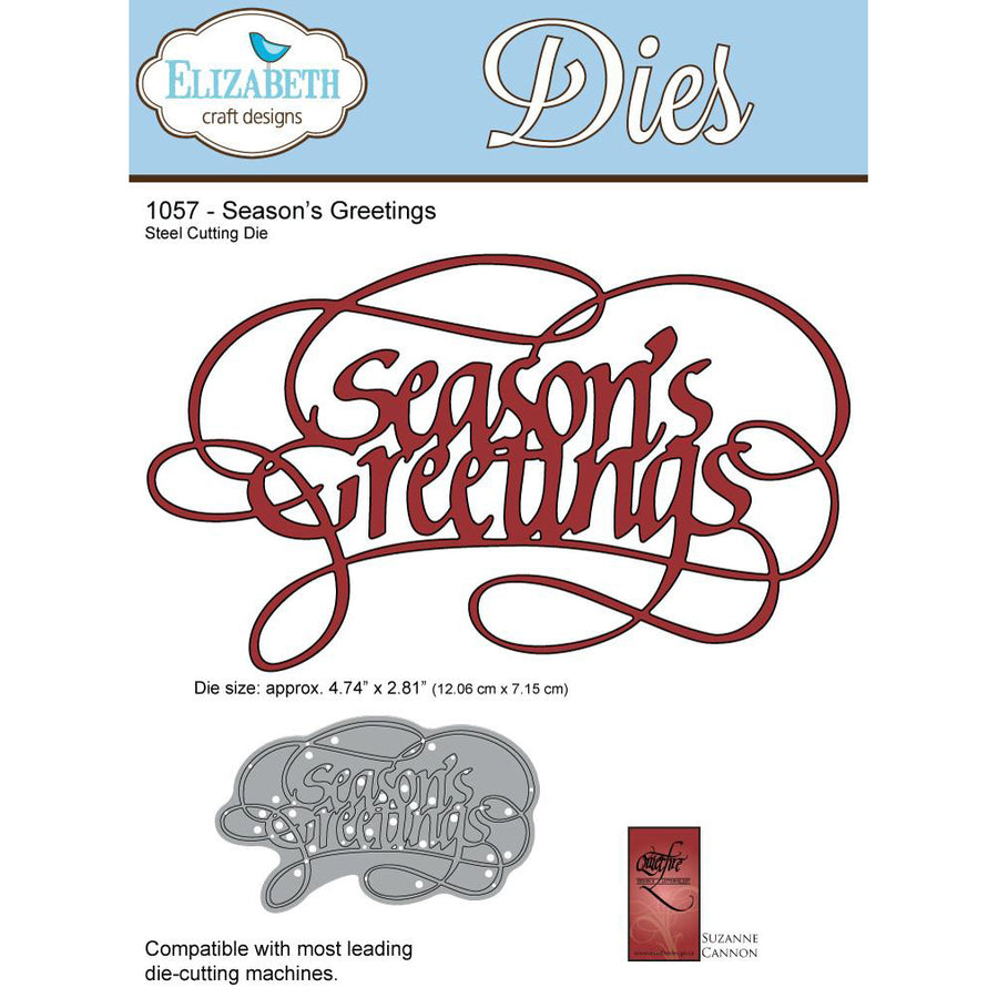 Elizabeth Craft Designs Dies: Seasons Greetings (1057)