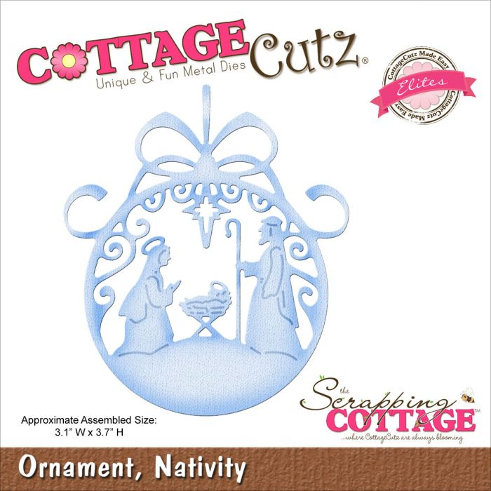 Cottage Cutz Die - Ornament, Nativity - CCE-185