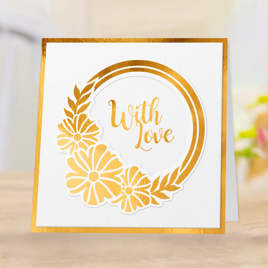 Gemini Foil Stamp 'N' Cut Die - Elements - Blossoming Wreath