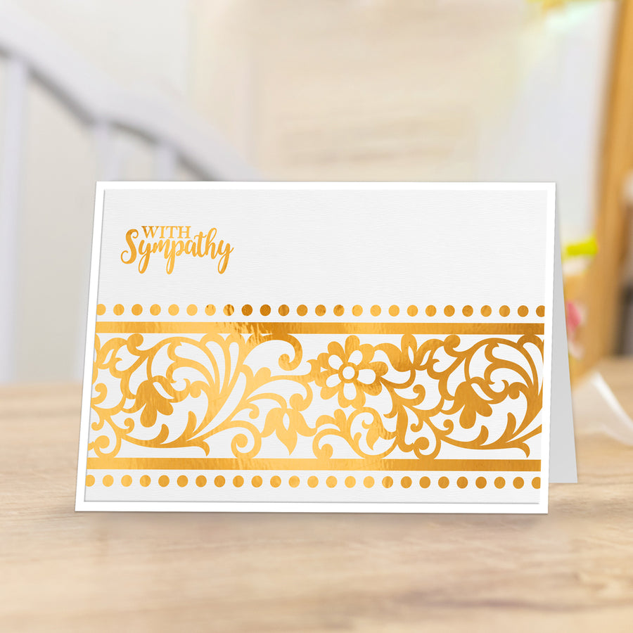 Gemini Foil Stamp Die - Elements - Blossoming Border