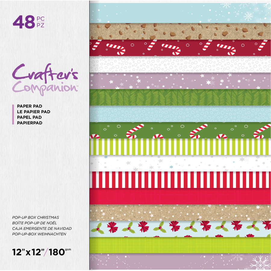 "Crafter's Companion - 12x12"" Paper Pad - Pop-Up Box Christmas"