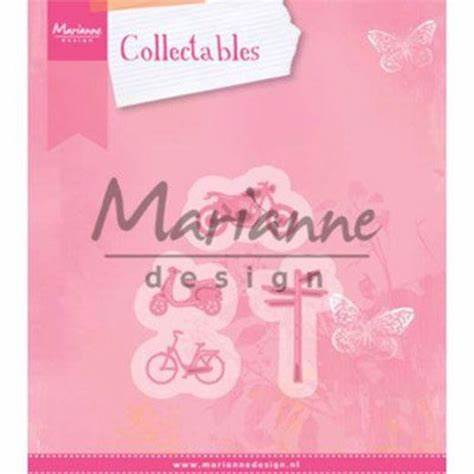 Marianne Design Collectable Dies - Village decoration set 4 (Bicycle) - COL1436