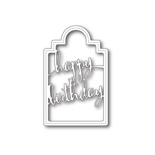 Poppystamps Die - Happy Birthday Tag