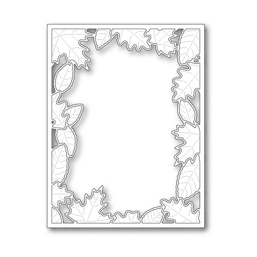 Poppystamps Die - Brilliant Leaf Frame - 1846