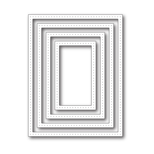 Poppystamps Die - Pointed Rectangle Frames - 1938