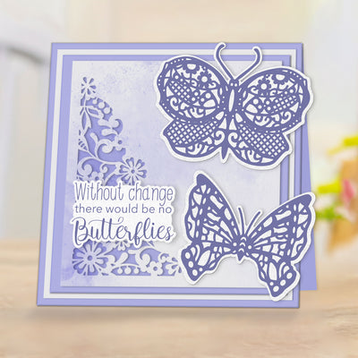 Sharon Callis Stamps & Dies - Arts n Flowers - Butterflies and Blooms - Butterfly Friendship