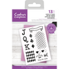 Crafters Companion - Layered Texture  Stamp - Game of Cards
