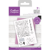 Crafters Companion - Layered Texture  Stamp - Letter to You