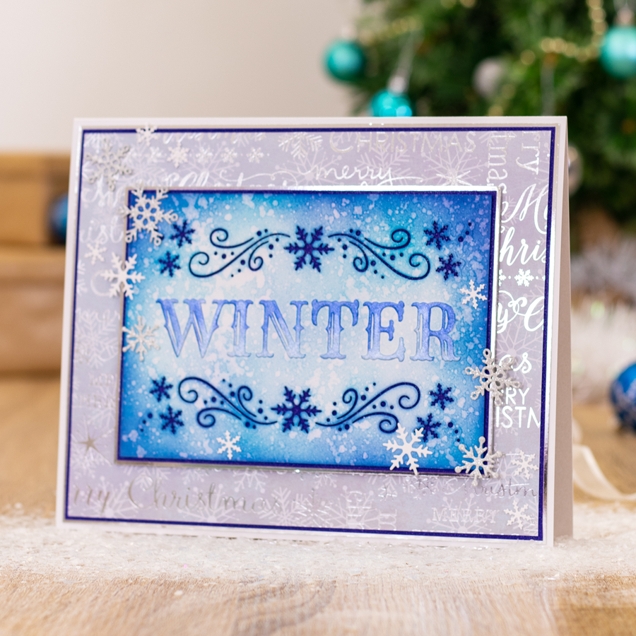 "Sara Signature Collection - Glittering Snowflakes - 5x7"" Cut & Emboss Folder - Hello Winter"