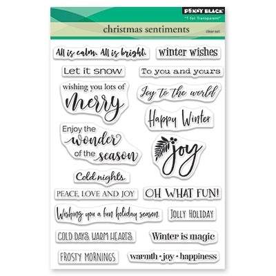 Penny Black Stamp: Christmas Sentiments (30-504)