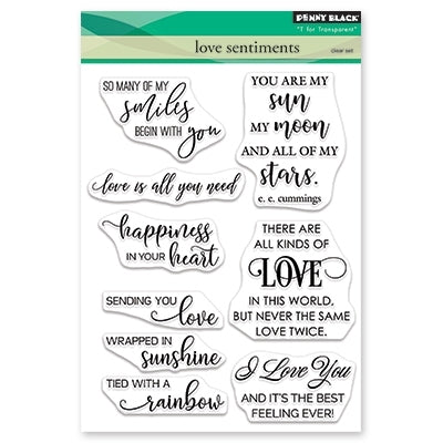 Penny Black Stamp: Love Sentiments (30-532)