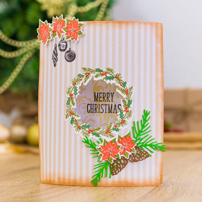 Gemini by Crafters Companion - Stamp & Die - Festive Wreath
