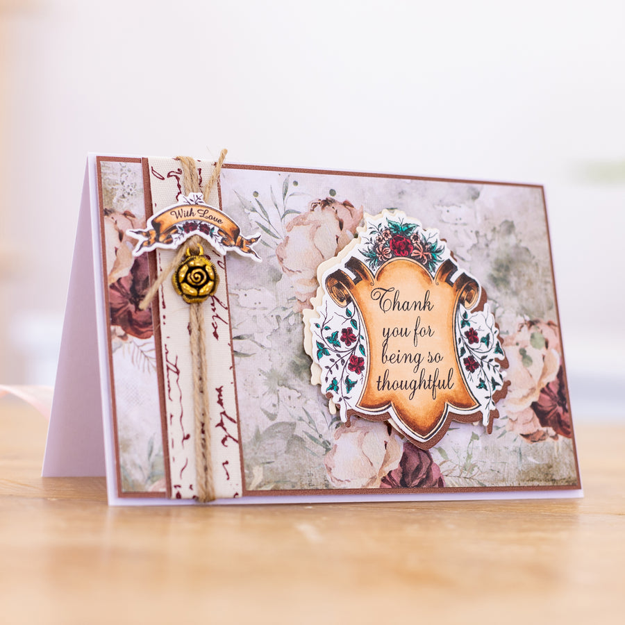 Sara Signature Collection - Vintage Diary- Stamp & Die - Antique Frame