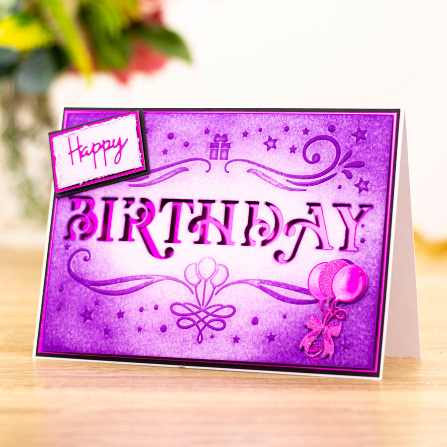 "Gemini by Crafters Companion -  Cut and Emboss Folder 5"" x 7"" - Classic Birthday"