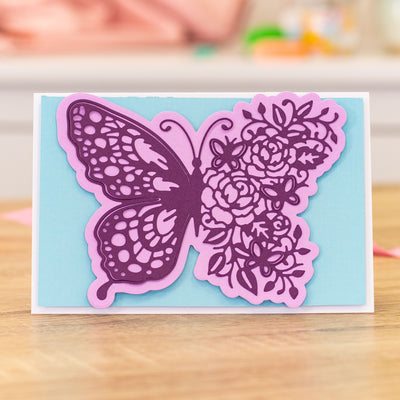 Gemini Die by Crafters Companion - Elements - Floral Butterfly