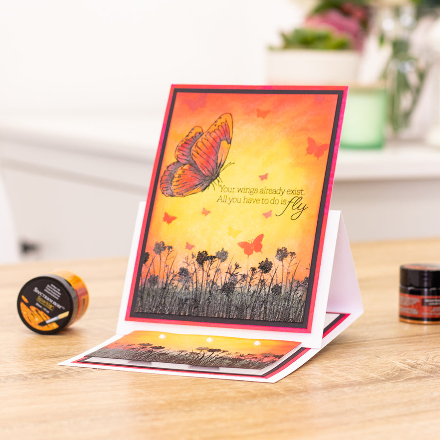Crafters Companion - Stamp - Butterfly Meadow