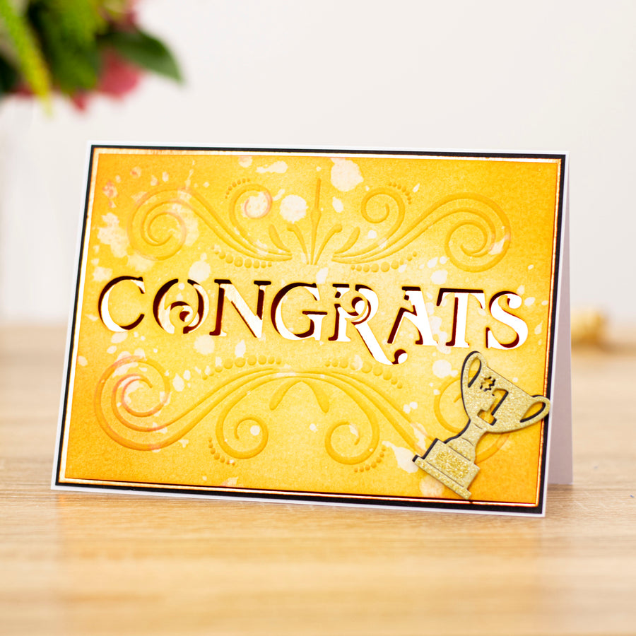 "Gemini by Crafters Companion -  Cut and Emboss Folder 5"" x 7"" - Classic Congrats"