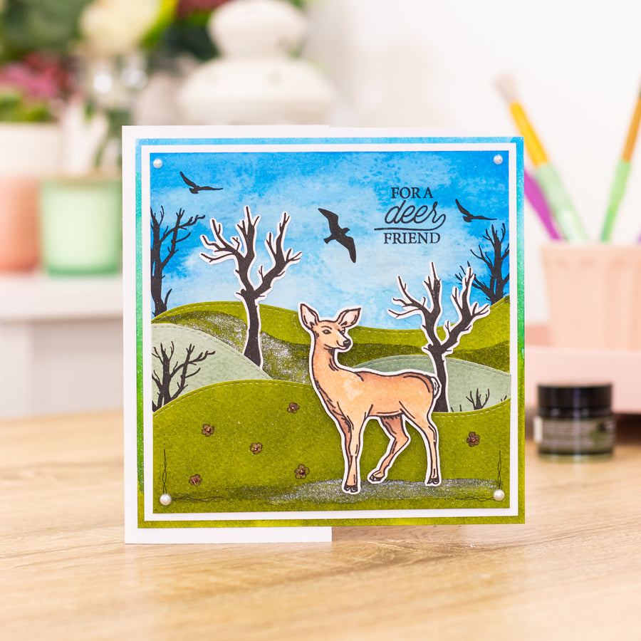 Crafters Companion - Stamp - Deer Friend