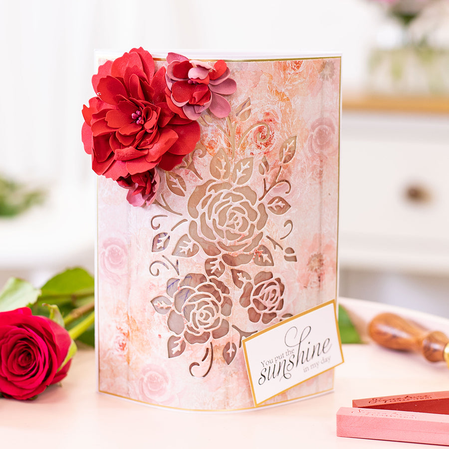 Sara Signature Collection - Rose Garden - Metal Die - Fancy Floribunda