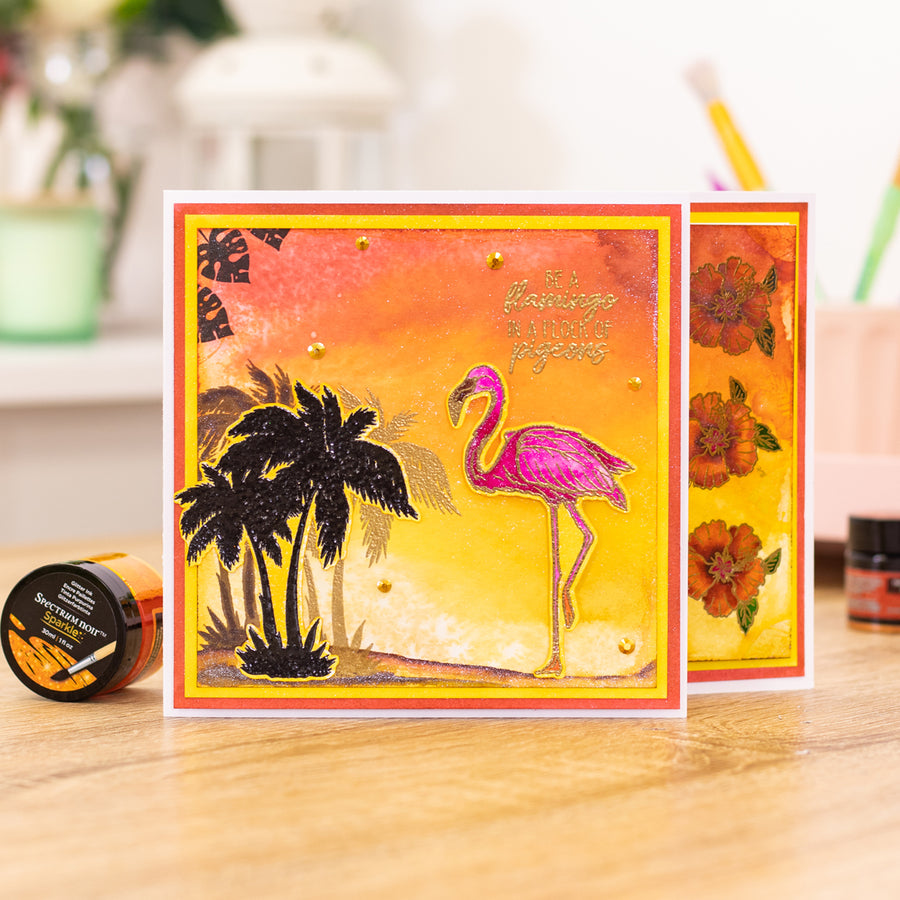 Crafters Companion - Stamp - Flamingo Paradise