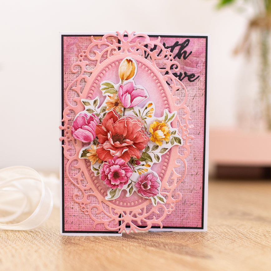 Crafters Companion - Clear Acrylic Stamps - Floral Spray