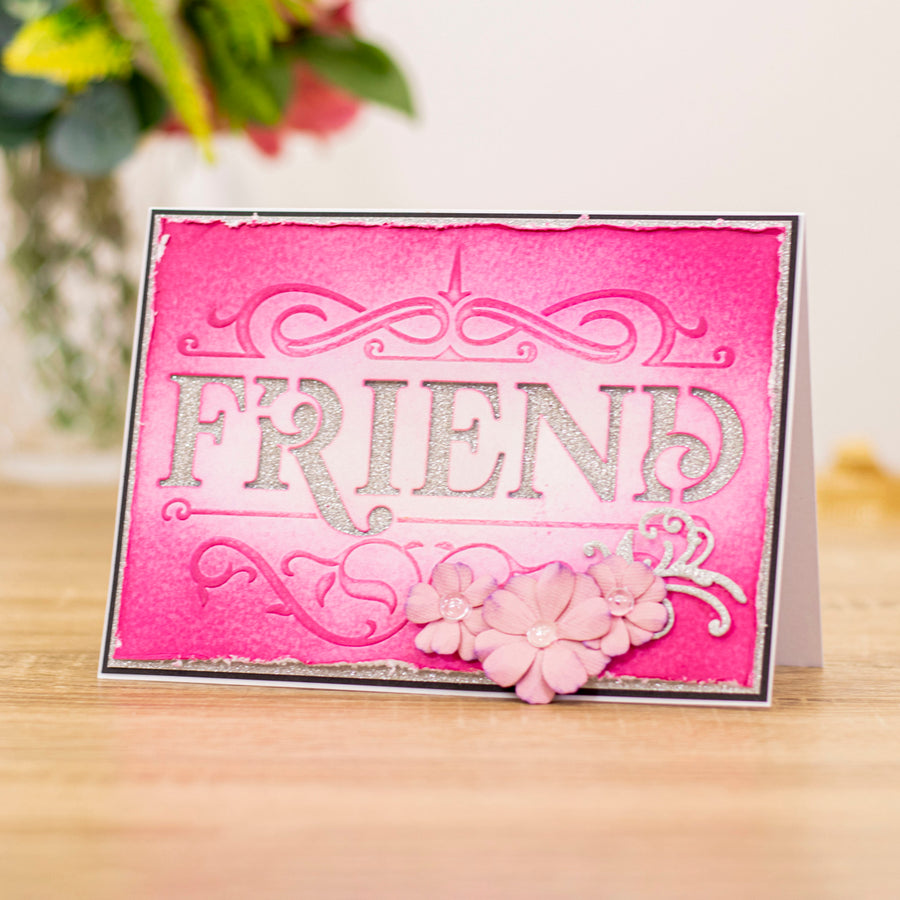 "Gemini by Crafters Companion -  Cut and Emboss Folder 5"" x 7"" - Classic Friend"