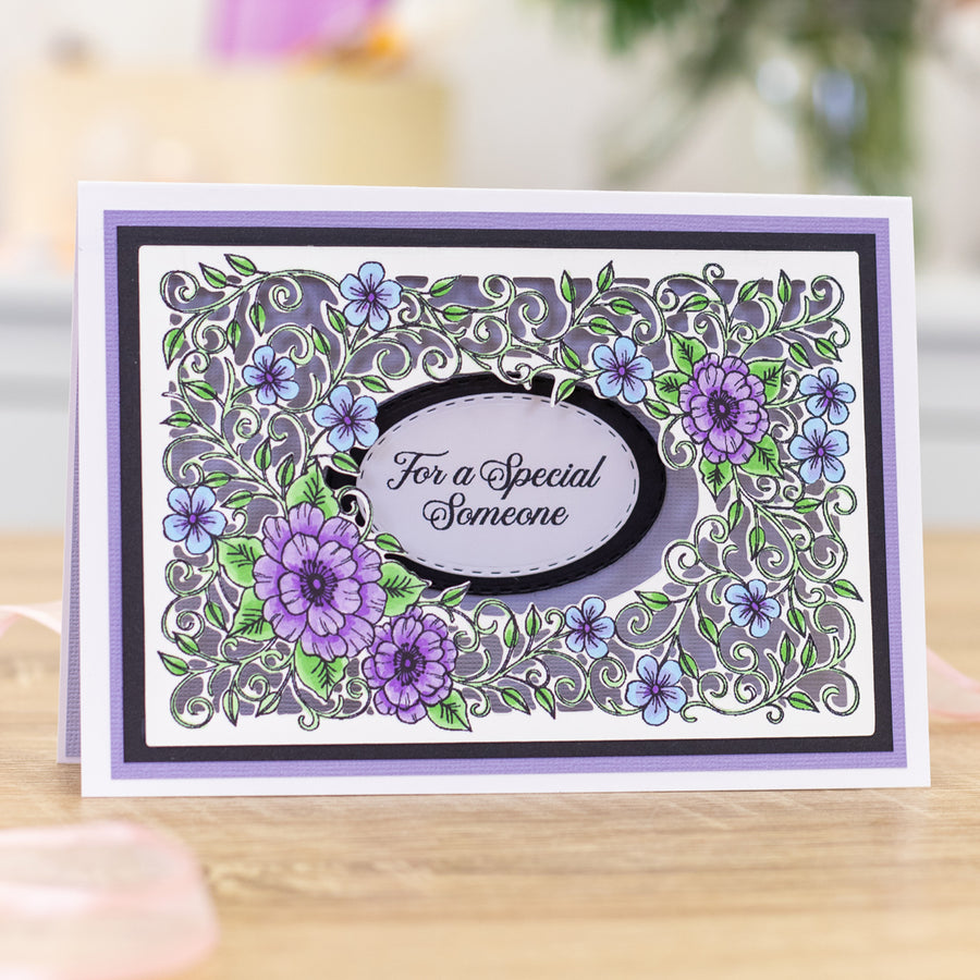 Gemini by Crafters Companion - Stamp & Die - Flowers & Vines