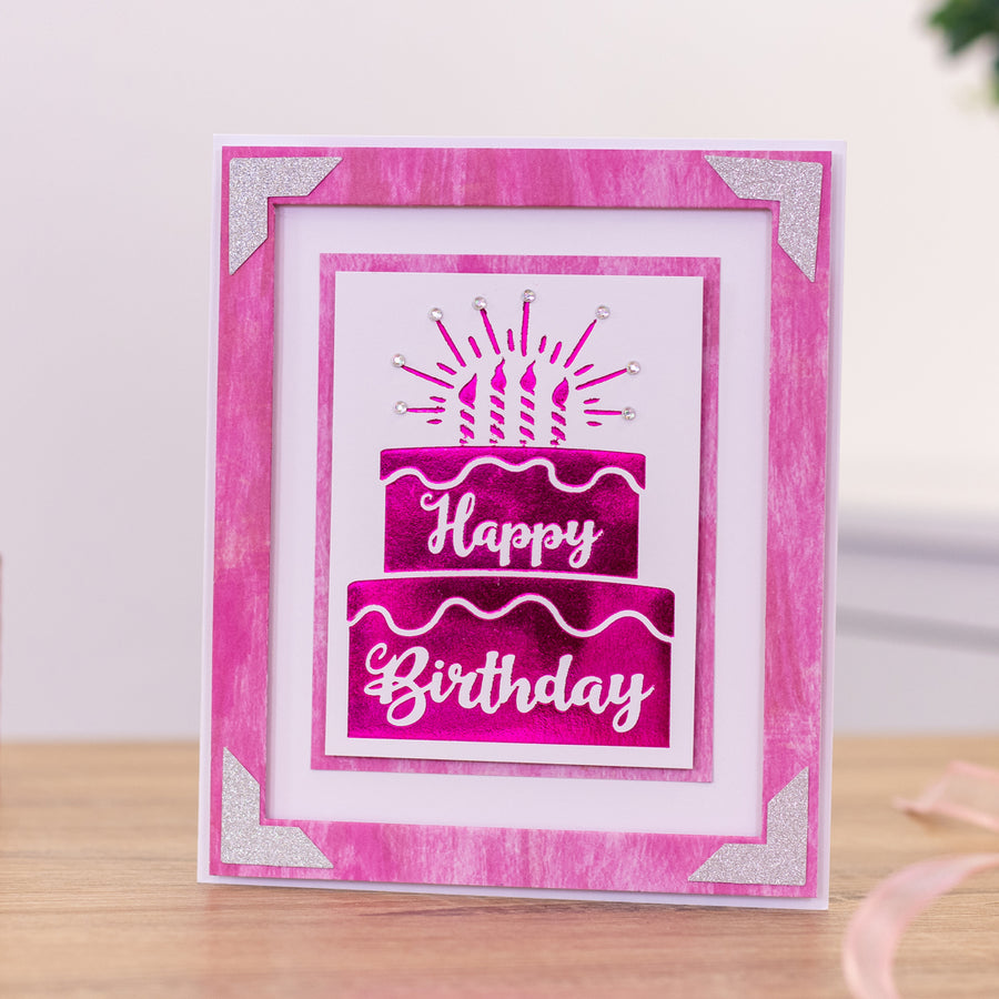 Gemini Foil Stamp Die - Expressions - Happy Birthday Cake