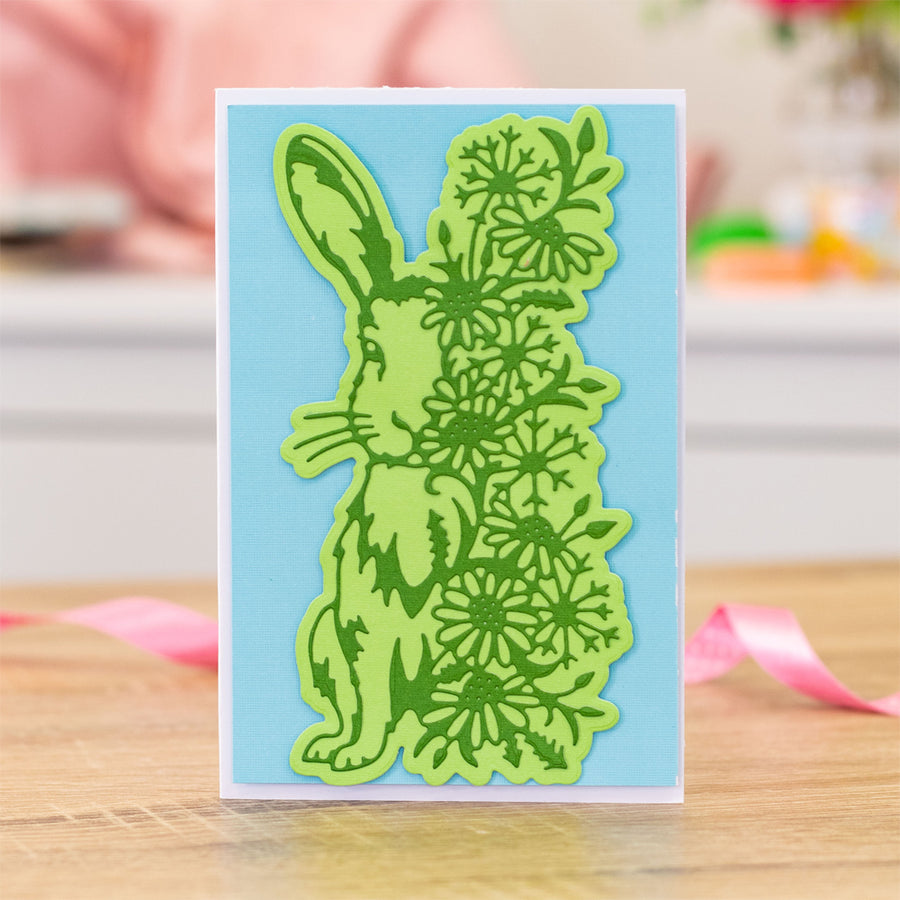 Gemini Die by Crafters Companion - Elements - Floral Hare