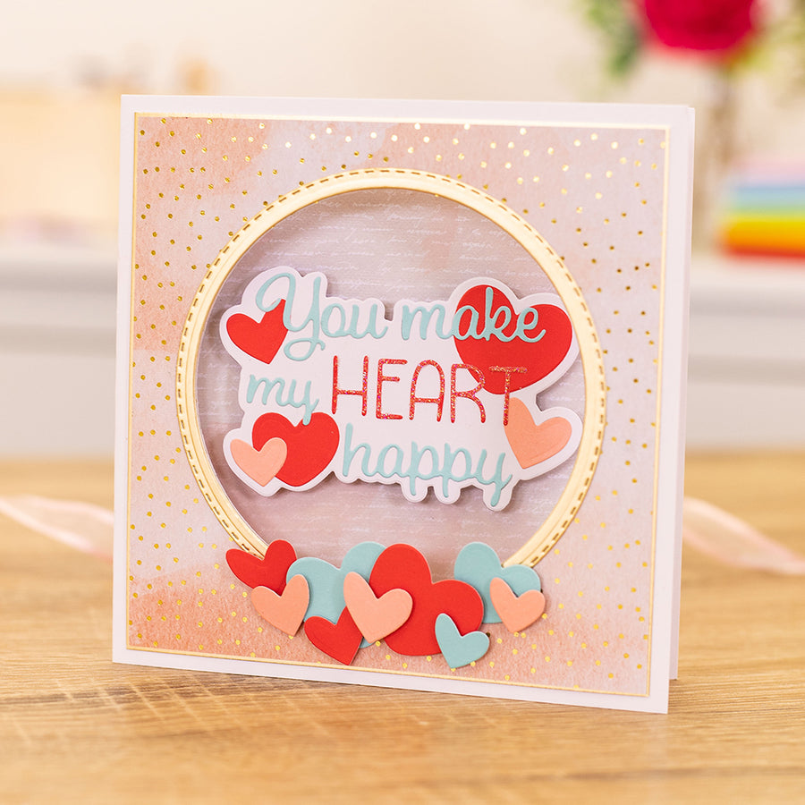 Gemini by Crafters Companion - Metal Die - Expressions - You Make My Heart Happy