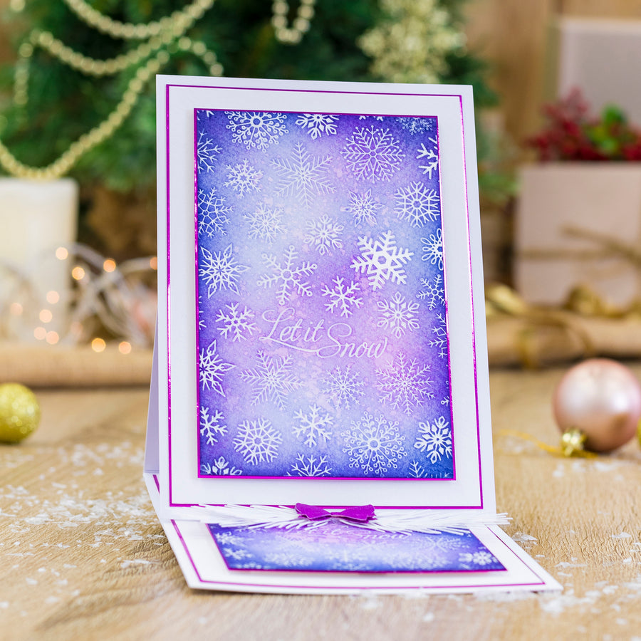 Gemini by Crafters Companion - Foil Stamp Die - Create-a-Card - Let it Snow