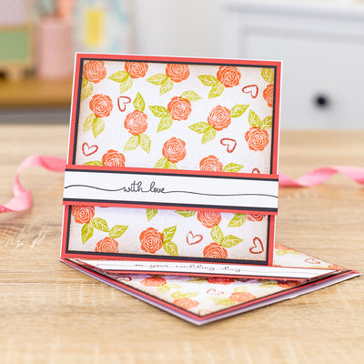 Crafters Companion Stamps - With Love Swash Sentiments