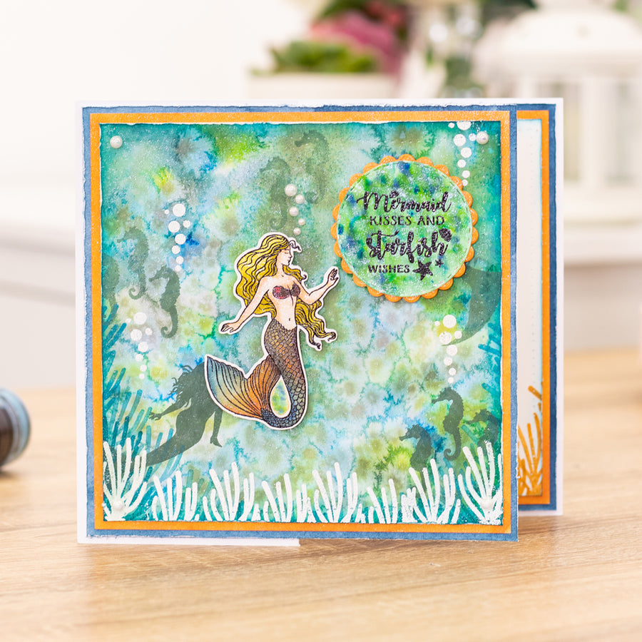 Crafters Companion - Stamp - Mermaid Kisses