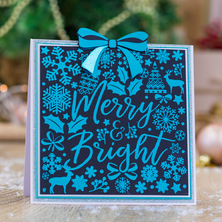 Gemini by Crafters Companion - Foil Stamp Die - Create-a-Card - Merry and Bright