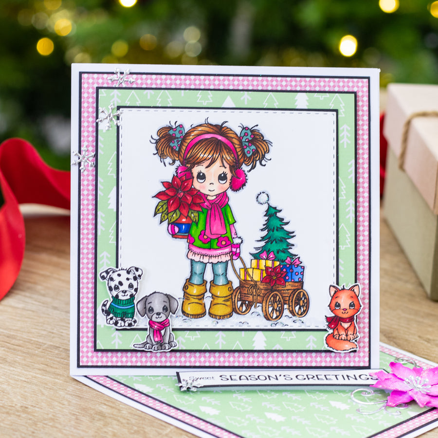 Conie Fong Photopolymer Stamp - Molly's Christmas