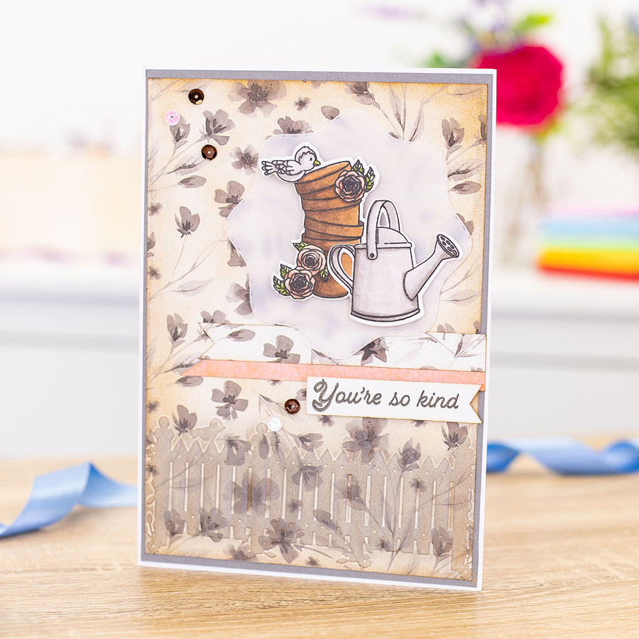 "Gemini by Crafters Companion - 5.75"" x 2.75"" Embossing Folder - Best of British Picket Fence"
