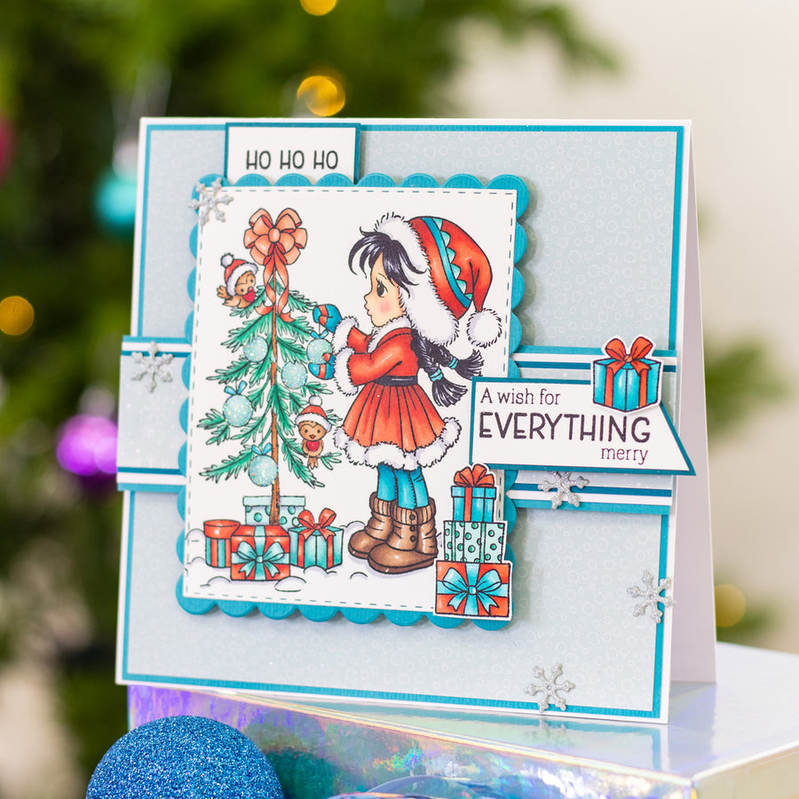 Conie Fong Photopolymer Stamp - Sally's Christmas Friends