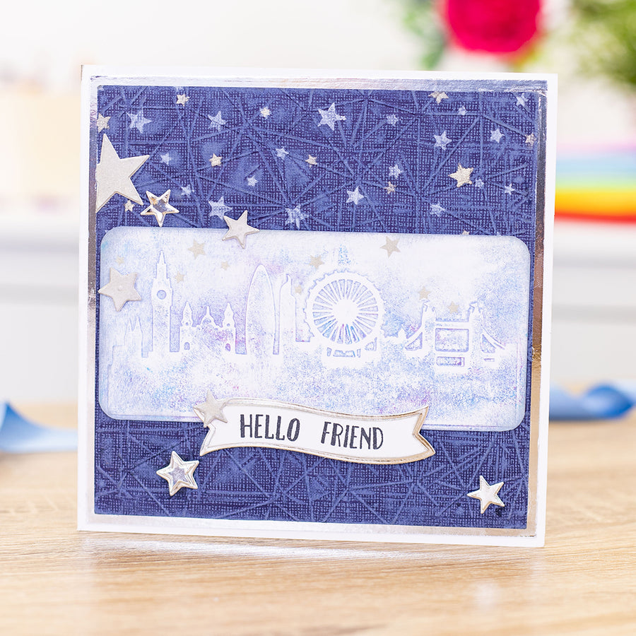 "Gemini by Crafters Companion - 5.75"" x 2.75"" Embossing Folder - Best of British London Skyline"