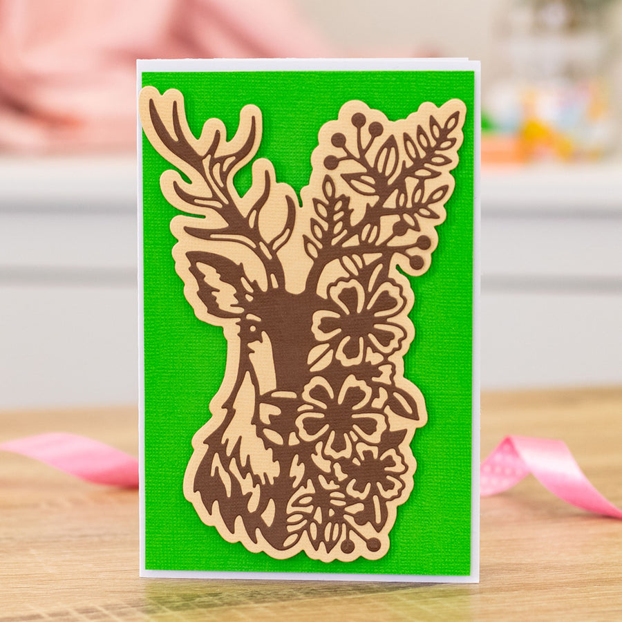 Gemini Die by Crafters Companion - Elements - Floral Stag