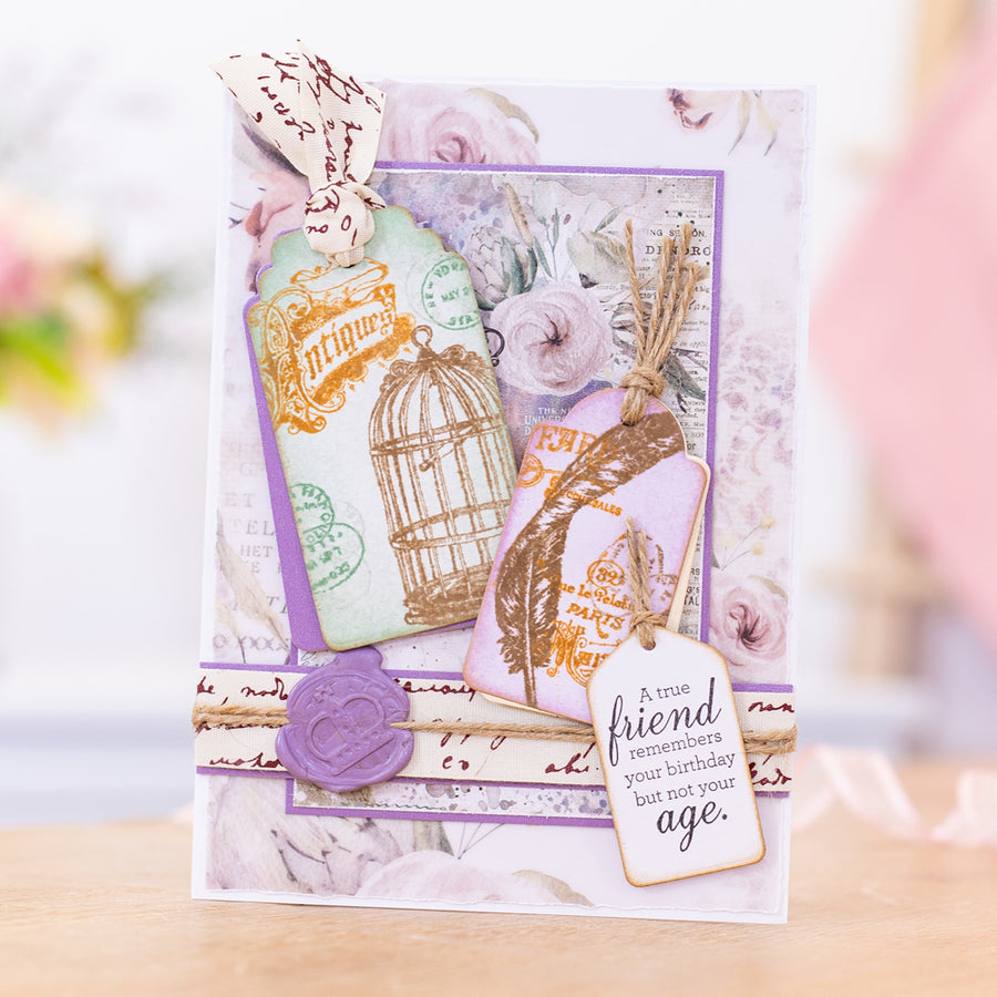 Sara Signature Collection - Vintage Diary - Metal Die - Tags and Banners