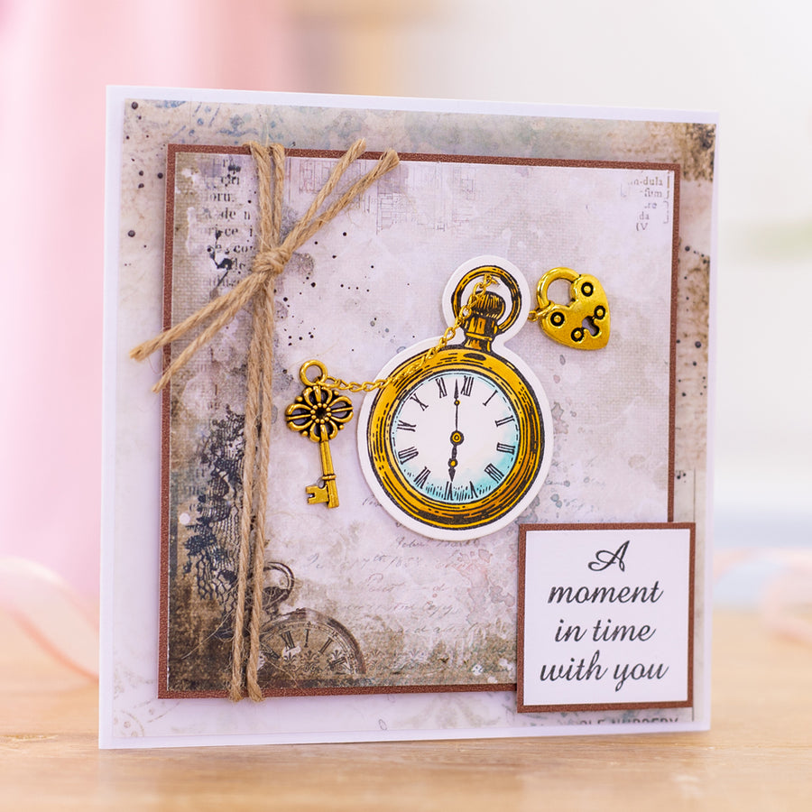 Sara Signature Collection - Vintage Diary- Stamp & Die - Pocket Watch