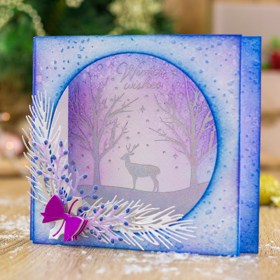 Gemini by Crafters Companion - Foil Stamp Die - Create-a-Card - Winter Wishes