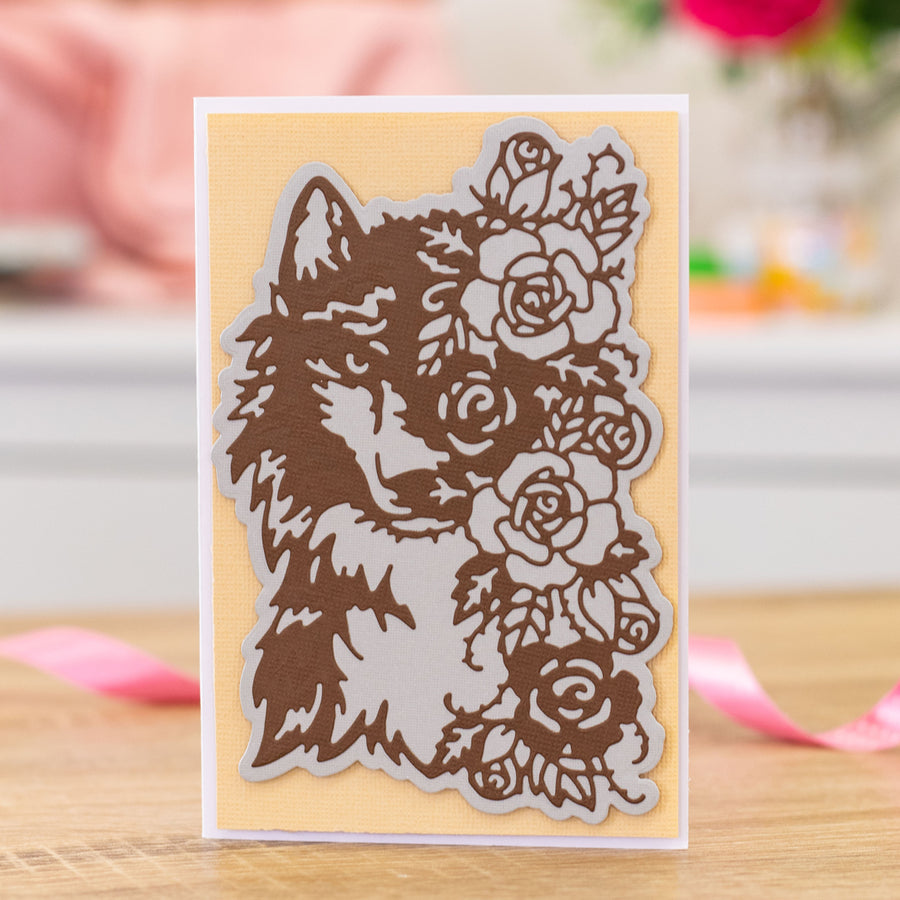 Gemini Die by Crafters Companion - Elements - Floral Wolf