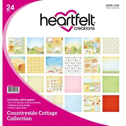 Heartfelt Creations - Countryside Cottage Paper Collection - HCDP1-2123
